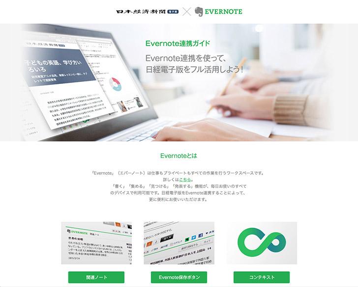 日経電子版とEvernoteの連携