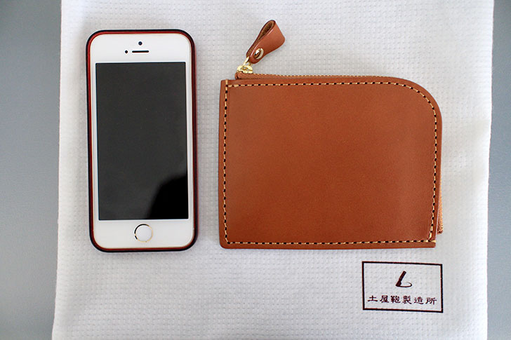 Natura LファスナーとiPhone5S
