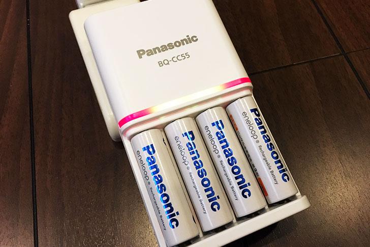 パナソニックの急速充電器 BQ-CC55