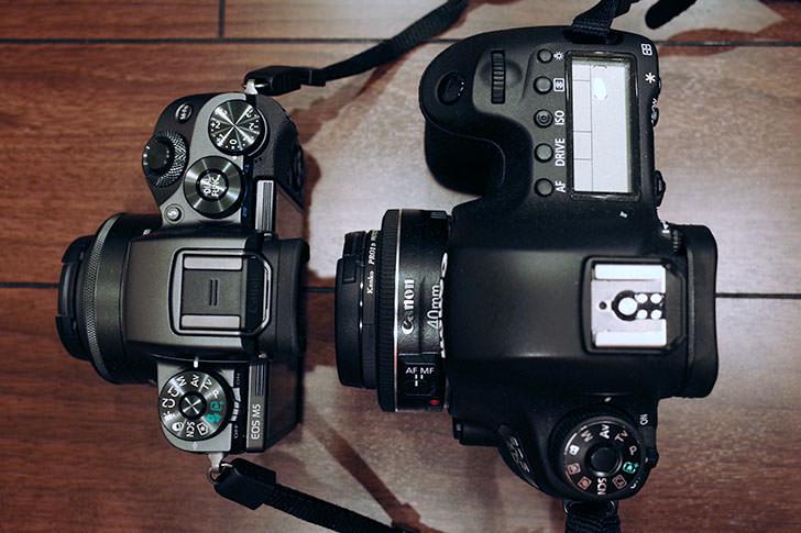 EOS M5とEOS 6Dの比較