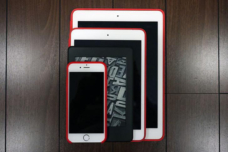 KindleとiOSデバイスのサイズ比較