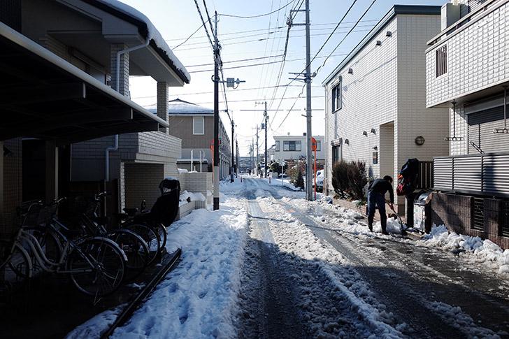 雪が降ったあとは数日こんな感じ