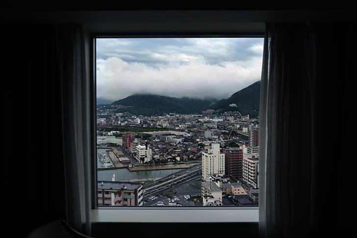 ホテルの部屋からの景色