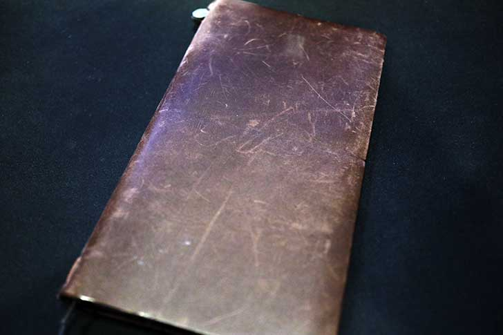 手入れ前のトラベラーズノート
