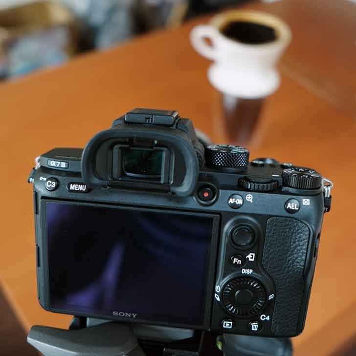 a73でコーヒー動画を撮る
