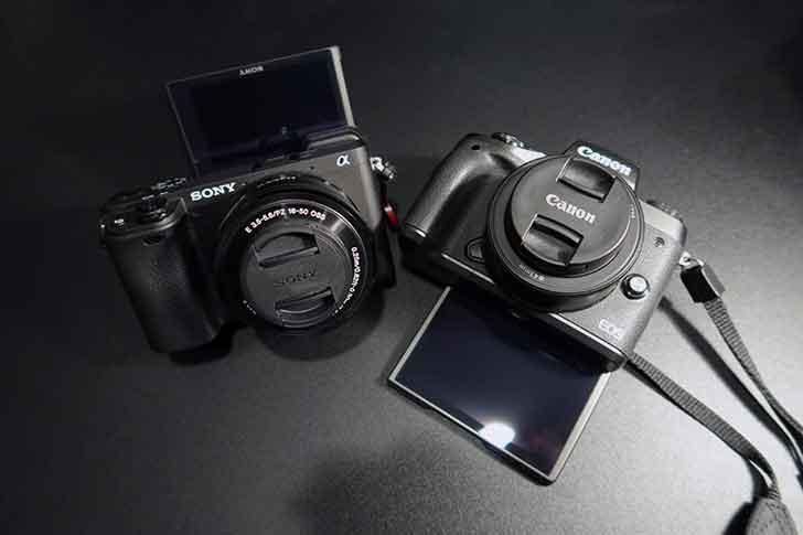 EOS M5とa6400
