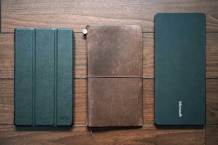 ZenPad 8.0とトラベラーズノート、ユニバーサルキーボード