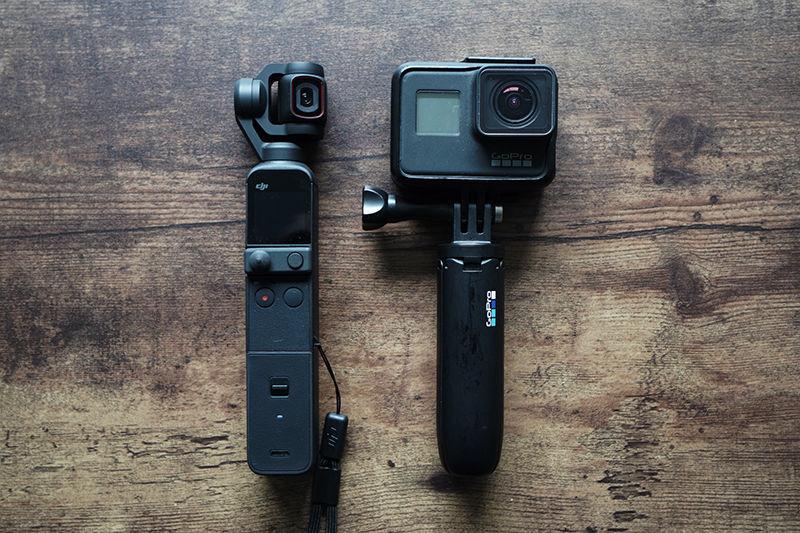 DJI Pocket 2 と GoPro HERO 7