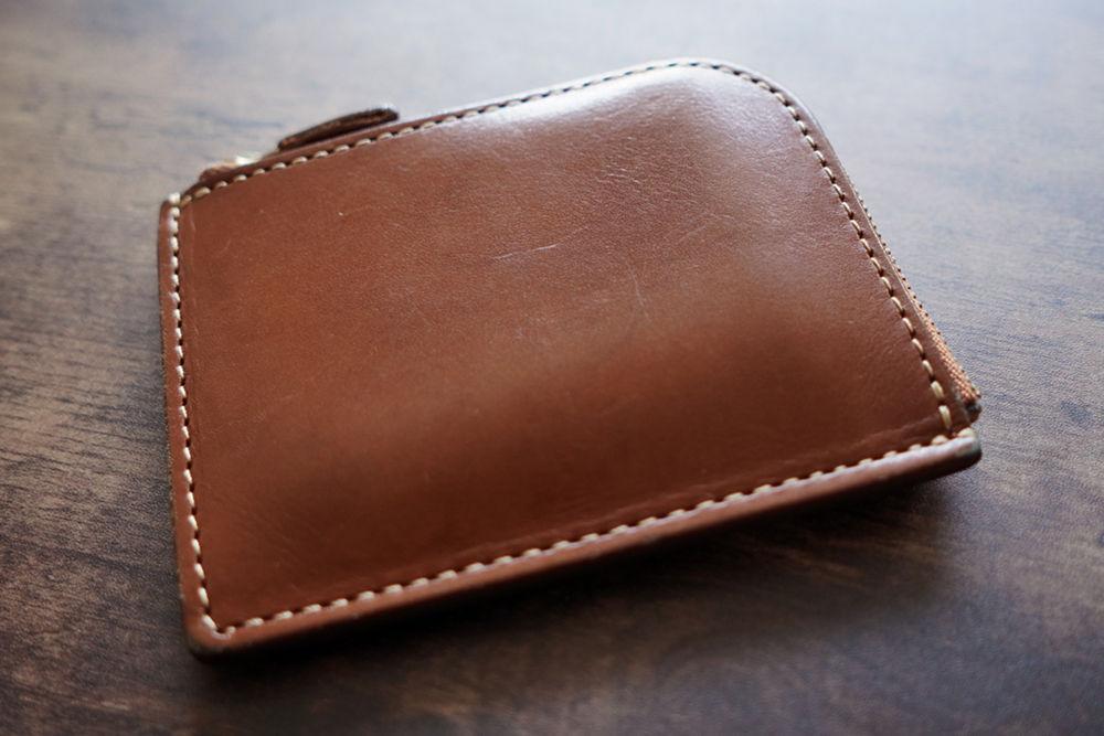 土屋鞄製造所ナチューラヌメ革Lファスナー